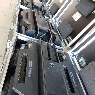 Getting ready for the weekends events with these IP fixtures... Whatever the weather, the show must go on!